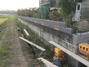 外構ブロック積み_さなだ瓦店の施工事例