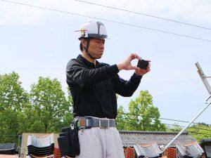 迅速に現地調査_100%自社施工の瓦外壁リフォーム工事ならさなだ瓦店_石川県津幡町
