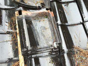 瓦の割れズレ修繕_100%自社施工さなだ瓦店_石川県津幡町の瓦屋さん