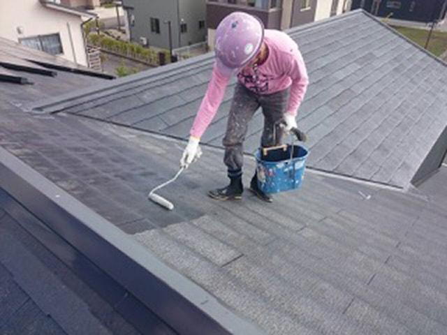 屋根塗装(板金屋根、スレート屋根)_さなだ瓦店サービス内容